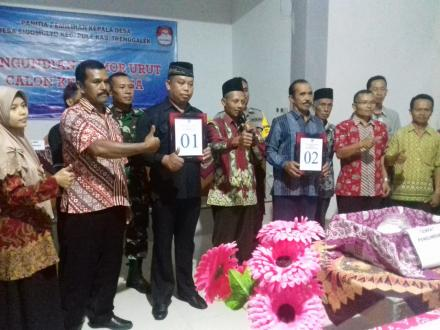 Rapat Pengundian Nomor Urut Calon Kepala Desa Sidomulyo